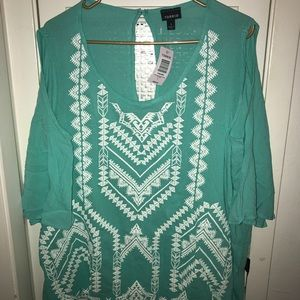 NWT Blouse with cold shoulder style